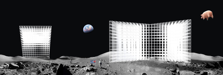 Sol leWitt moon city, 2015